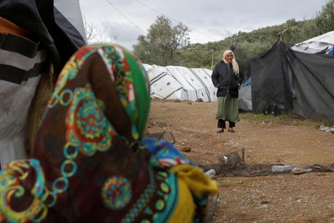 Dans le camp de Moria, à Lesbos, en novembre 2018 © Reuters