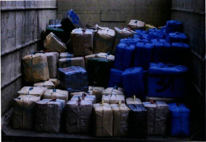 Les 7 tonnes de cannabis saisies le 17 octobre 2015 boulevard Exelmans. © DR