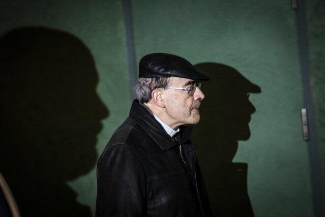 Le cardinal Barbarin au tribunal correctionnel de Lyon le 7 janvier. © Albert Campi / We Report
