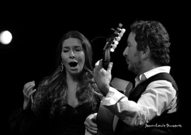 Rocio Marquez et Alfredo Lagos lors du Festival de Nîmes 2013 © Jean-Louis Duzert