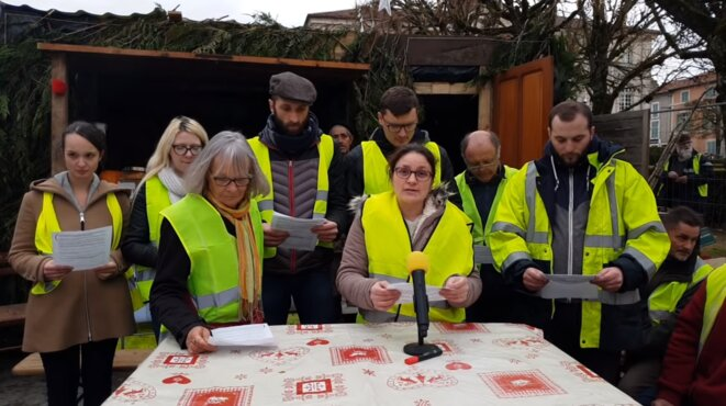The first appeal made by the 'yellow vests at Commercy in north-east France. © DR