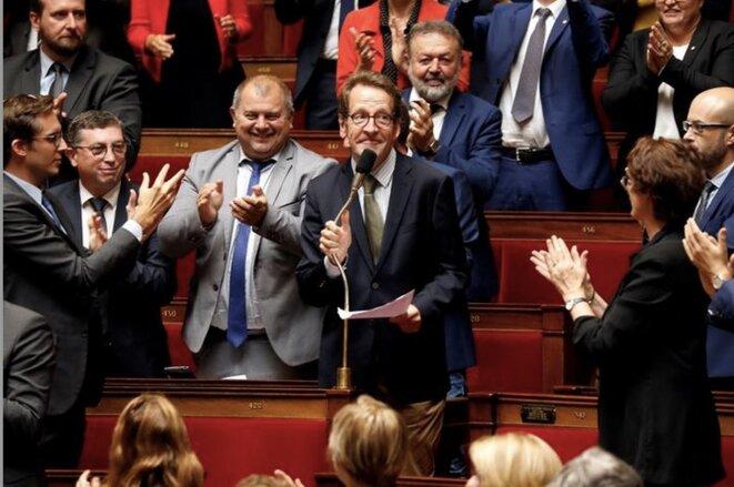 Gilles Le Gendre, président du groupe LREM à l'Assemblée nationale. © REUTERS/Charles Platiau