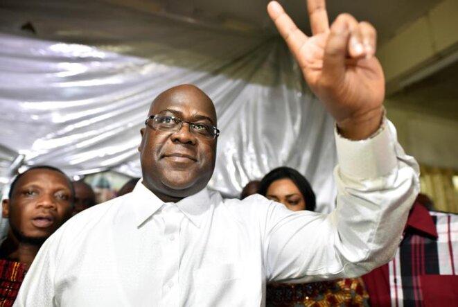 Félix Tshisekedi, candidat de l'Union pour la démocratie et le progrès social, est arrivé en tête de la présidentielle en RDC. © Reuters