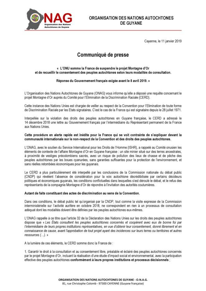 Organisation des Nations Autochtones de Guyane 1/2