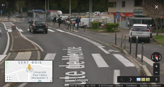 La bande cyclable route de Mende, qui se rétrécit, se rétrécit…
