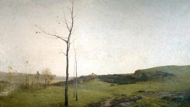 """Auguste Pointelin, """"Sur le plateau du Jura. L'automne"""", huile sur toile, 1876, Musée des Beaux-arts de Dole © Ville de Dole"""