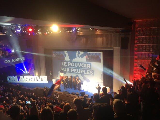 À la convention nationale du RN de Marine Le Pen, le dimanche 13 janvier 2019, à la Mutualité à Paris. © LD