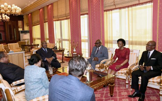 Audience Ali Bongo © Présidence de la République Gabonaise