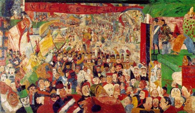 James Ensor - L'entrée du Christ à Bruxelles