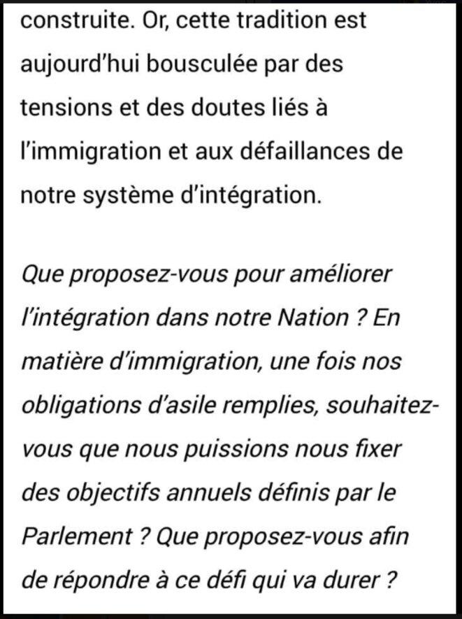 Extrait lettre d'Emmanuel Macron