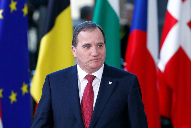 Le chef du gouvernement suédois sortant, Stefan Löfven, à Bruxelles le 13 décembre 2018 © Reuters / François Lenoir.