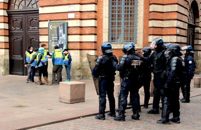 À Toulouse, samedi 12 janvier. © ER