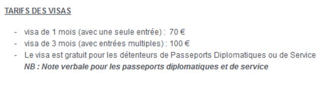Formalités © Site de l'ambassade du Tchad