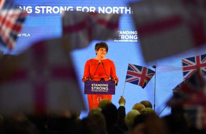 La cheffe du DUP Arlene Foster à la conférence de son parti, à Belfast, le 25 novembre 2017 © Reuters