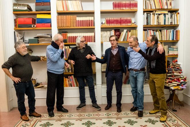 Les six membres de Noi uomini, lors d'une réunion du lundi à Palerme © Max Hirzel