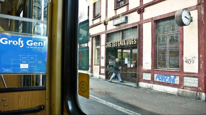L'ancienne gare des Eaux-Vives, qui connecte les réseaux ferroviaires savoyard et suisse. © Albán Lavy