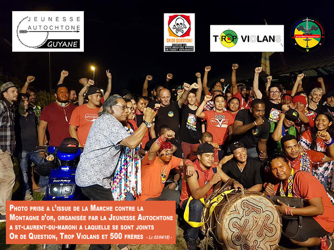 Marche collective contre la Montagne d'or - Saint-Laurent-du-Maroni - Guyane Française - Avril 2018