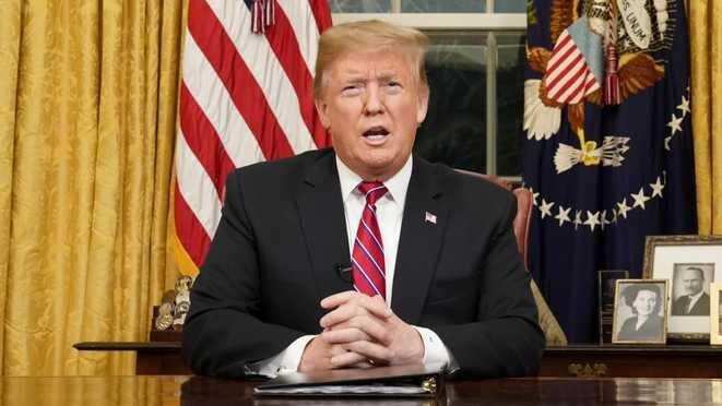 Donald Trump durante su alocución en la Casa Blanca, el miércoles 9 de enero de 2019. © Reuters