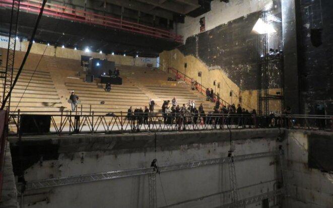 Le Théâtre de la Ville de Paris, lors des voeux de Christophe Girard à la presse et au monde de la culture, le 21 janvier 2019