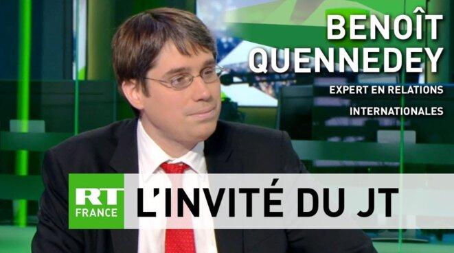 Benoît Quennedey a été plusieurs fois invité sur le plateau de RT France. © Capture d'écran.