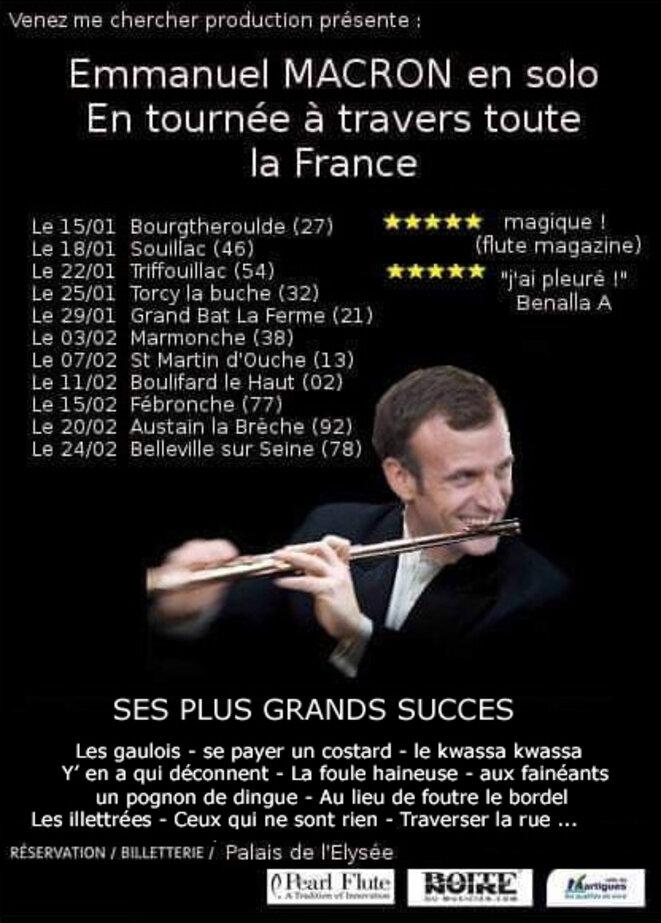Emmanuel Macron en tournée solo © Venez me chercher production