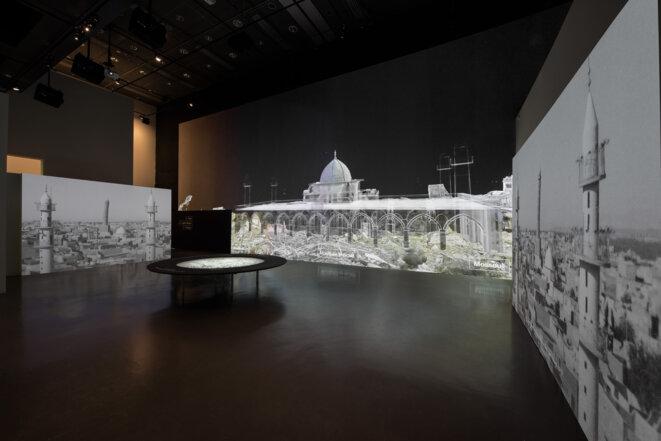 Exposition « Cités millénaires » à l'Institut du monde arabe. © Thierry Rambaud / IMA / Iconem