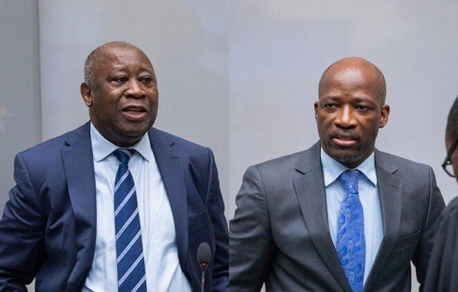 Laurent Gbagbo et Charles Blé Goudé à La Haye, janvier 2019. © (ICC)
