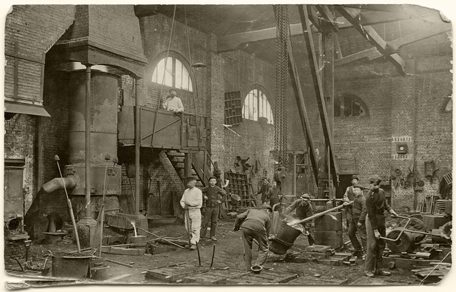 Atelier de fonderie à Blangy sur Bresle en 1909 © Alfred Soyer