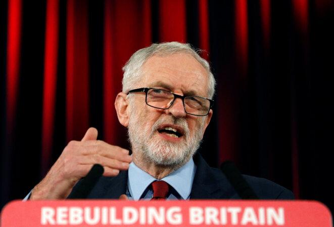 Jeremy Corbyn le 17 janvier 2019 à Hastings, Royaume-Uni. © Reuters/Peter Nicholls
