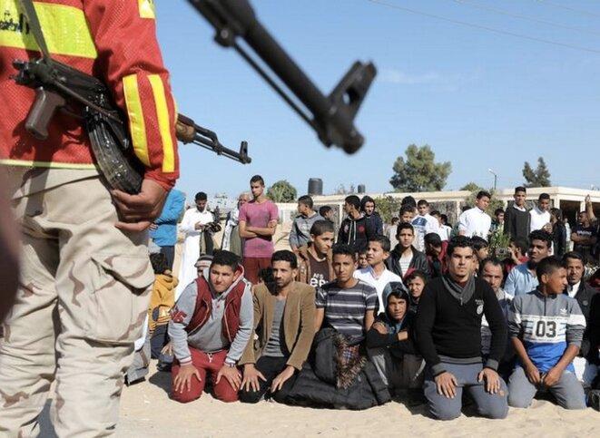 Opération menée par l'armée égyptienne dans le Nord-Sinaï, après une attaque le 1er décembre 2017. © Reuters