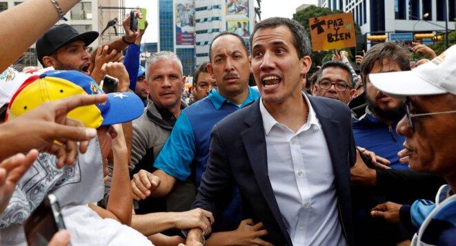 Le chef du Parlement vénézuélien Juan Guaidó, 35 ans, s'est autoproclamé le 23 janvier 2019 « président par intérim » du Venezuela. © Reuters