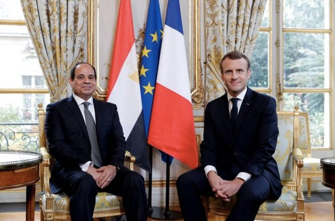 Les présidents égyptien et français à l'Élysée, le 24 octobre 2017. © Reuters