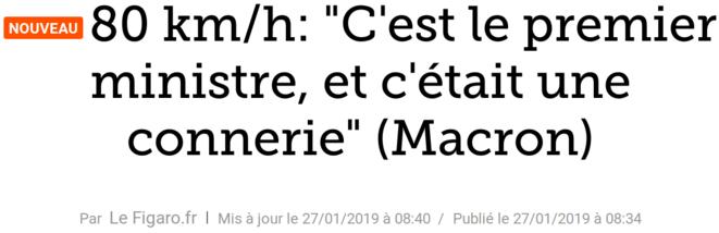 http://www.lefigaro.fr/flash-actu/2019/01/27/97001-20190127FILWWW00034-80-kmh-c-est-le-premier-ministre-et-c-etait-une-connerie-macron.php