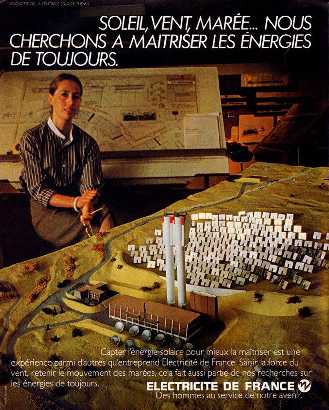 Publicité EDF - 1980 - Maquette du projet Thémis.