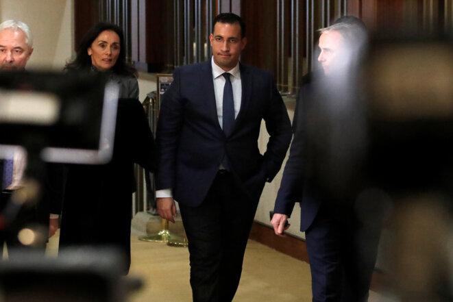 Alexandre Benalla arrivant à la commission d'enquête sénatoriale, le 21 janvier 2019. © Reuters