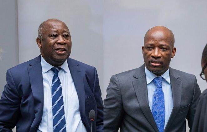 Laurent Gbagbo y Charles Blé Goudé en La Haye, enero de 2019. © (ICC)