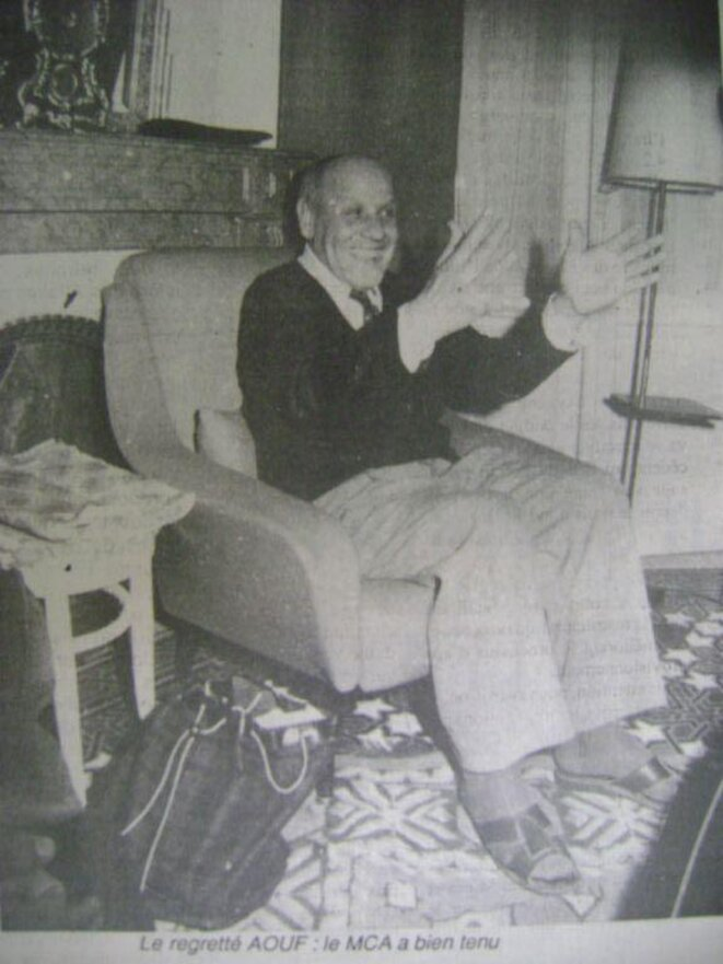 Abderrahmane Aouf, fondateur du Mouloudia