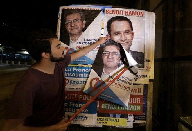 Pendant la campagne présidentielle de 2017. © Reuters