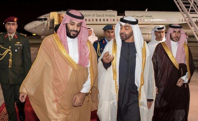 MBZ et MBS à Abou Dhabi, le 22 novembre 2018. © Reuters