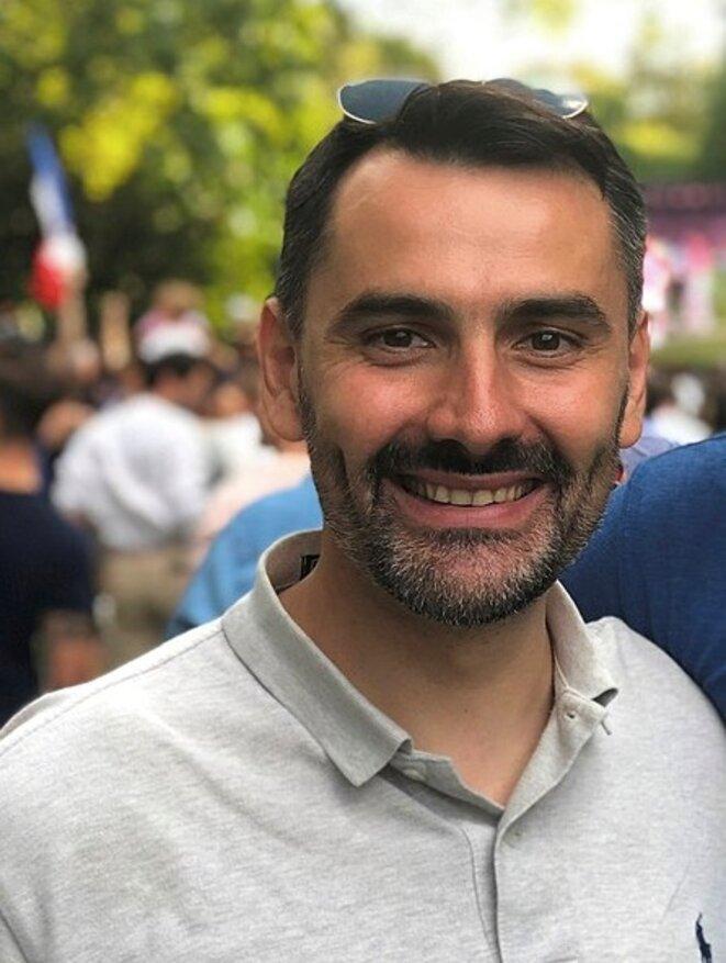 Ludovic Chaker à l'Élysée, le 15 juillet 2018. © dr