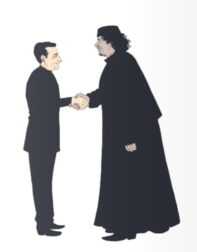 The opening of the Sarkozy-Gaddafi graphic novel. ©Delcourt