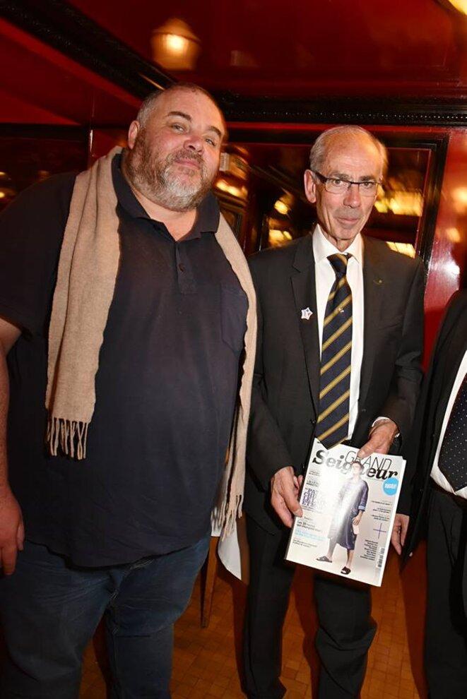 Olivier MALNUIT (à G) avec Jean-Claude OBRIOT (à D), pdt de la Fédération de la boucherie de la région parisienne