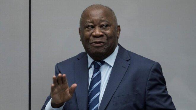 L'ancien président de Côte d'Ivoire, Laurent Gbabo, le 15 janvier 2019 à la Haye, après son acquittement par la Cour pénale internationale. © Reuters