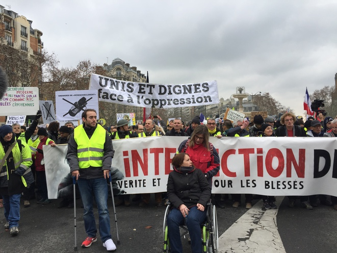 Marche blanche – gilets jaunes - Samedi 2 février - Paris © Pascale Pascariello