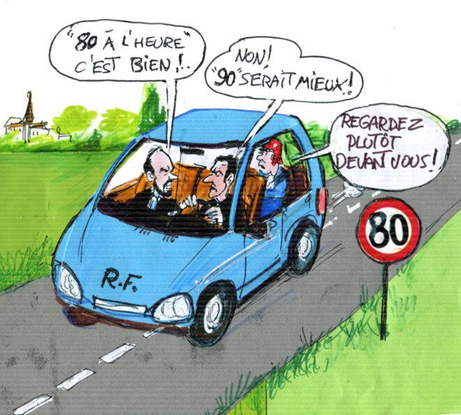 Limitation à 80 km/h © cal