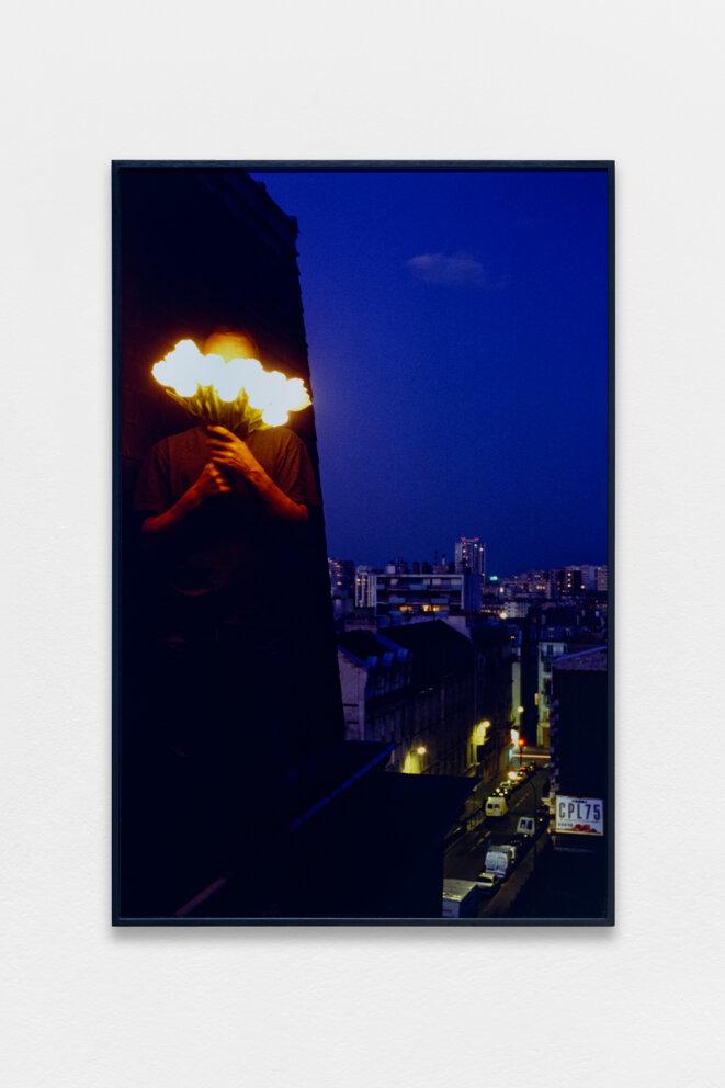 """Paul Pouvreau, """"L'enseigne"""", vue de l'exposition """"Le magazine des jours"""", Centre photographique d'Ile-de-France, Pontault-Combault, 2019. © Aurélien Mole, 2019"""