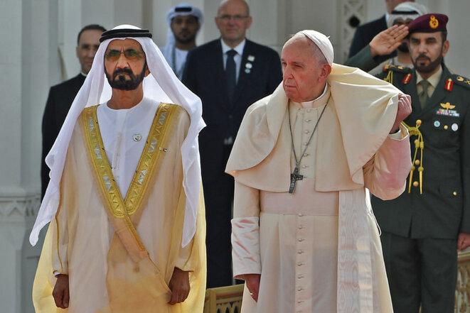 Le Pape François et le Prince héritier Mohamed Ben Zayed Al Nahyan