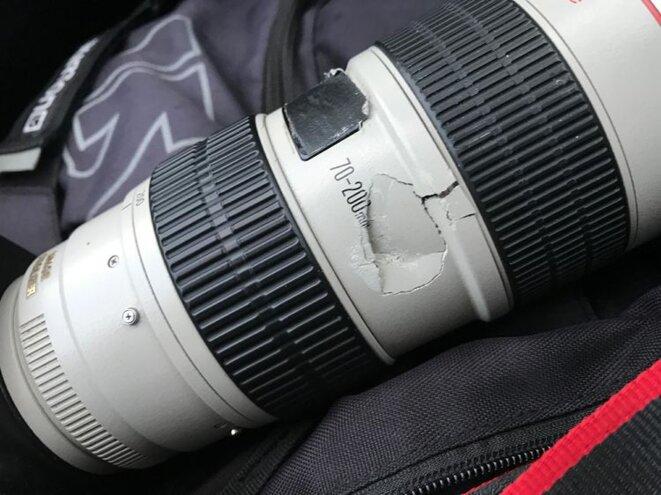 Appareil brisé du photographe Thibaud Moritz