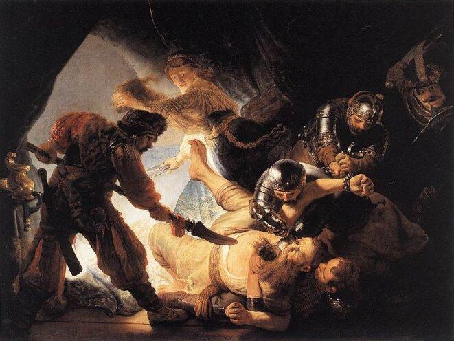 Rembrandt, l'aveuglement de Samson, 1636