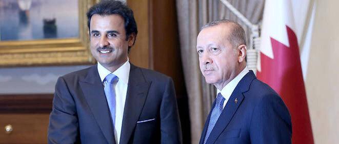 Recep Erdogan avec l'Emir du Qatar